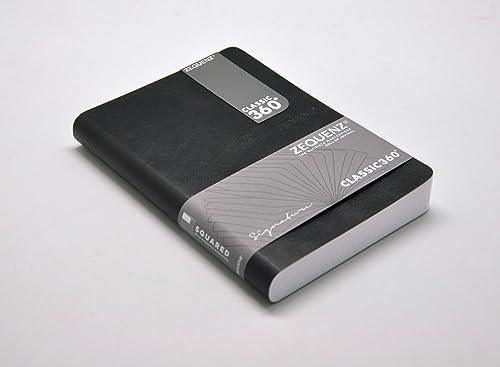 Zequenz Classic 360 ft Bound Journal Schreiben Notebook SchwarzMedium 12,7 17,8  200 att 400 iten Grid Muster