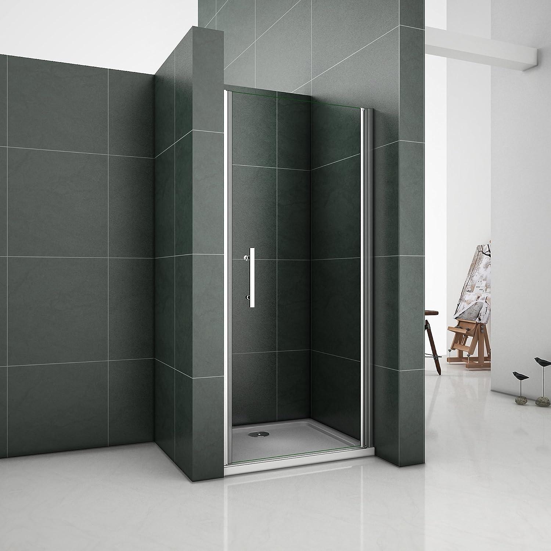 Perfect 800 x 1870mm Pivot Shower Enclosure 6mm Glass Shower Cubicle Door