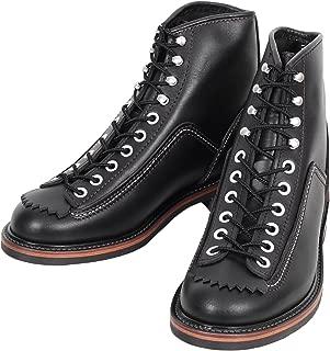 Sugar Cane Lone Wolf Mens Black Leather Carpenter Boots CANE4449