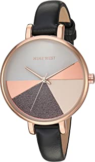 Nine West Women's Vegan Leather Strap Watch, NW/2412