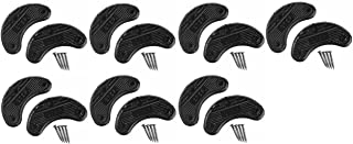 7 Pairs Traveler Men's Shoe Heel Plates Taps with Nails - Extra Small