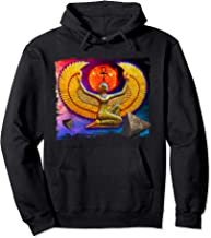 Isis Egyptian Goddess Gold Statue with Pyramids Pullover Hoodie
