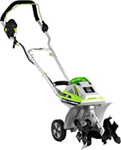 Earthwise TC70040 11-Inch 40-Volt Lithium-Ion Cordless Electric Tiller/Cultivator, 4Ah..