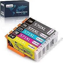 OfficeWorld Sostituzione per Canon PGI-570XL CLI-571XL Cartucce d'inchiostro PGI-570 CLI-571 per Canon PIXMA MG5750 MG6850 TS5050 TS6050 TS6051 MG5700 MG6800 MG5751 TS6052 MG6851 MG5752