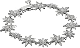 Betsey Johnson - Blue by Betsey Johnson Silver Tone Star CZ Stone Tennis Bracelet with Pave Crystal Accents