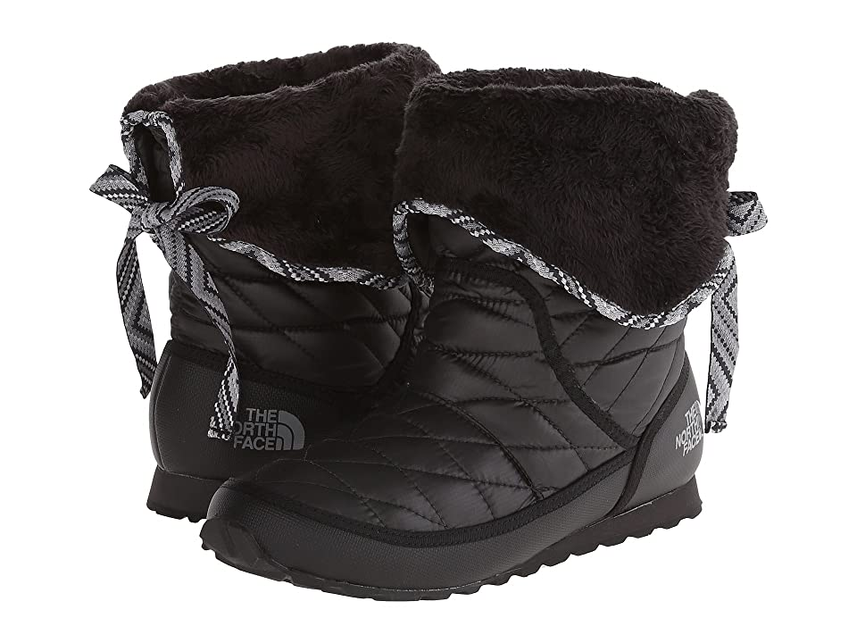 The North Face ThermoBalltm Roll-Down Bootie II (Shiny TNF Black/TNF Black (Prior Season)) Women