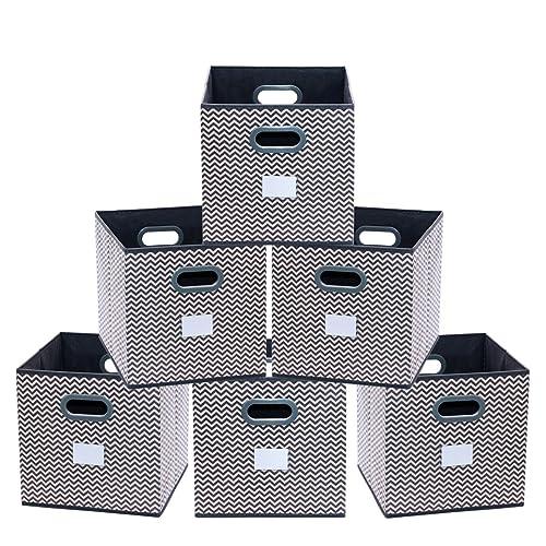Lifewit Bo/îte de Rangement Pliante en Lin de polyester 33x33x33cm Tiroirs en Tissu Cube de Rangement pliable coffre pour Linge Jouets V/êtement lot de 3
