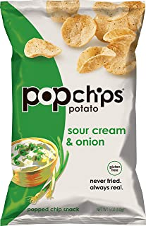 Popchips Potato Chips Sour Cream & Onion 5 oz Bags (Pack of 12)