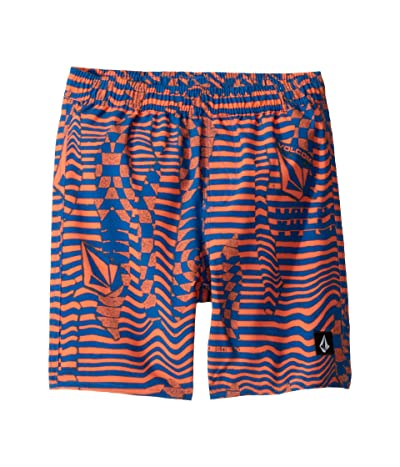Volcom Kids Logo Shifter Volley Boardshorts (Toddler/Little Kids) (Tigerlily) Boy