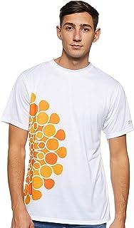Expo 2020 Dubai Men's T-Shirt Made from Recycled Plastic Bottles - Orange Half Logo