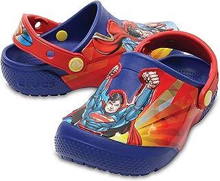 Crocs Infantil Clog FunLab Liga da Justiça Super Homem, Azul, Tamanho 25 BRA