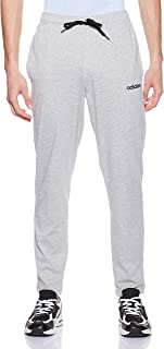 adidas Men's Essentials Tapered Single Jersey Pant, Grey (Medium Grey Heather/Black/mgh Solid Grey), Small