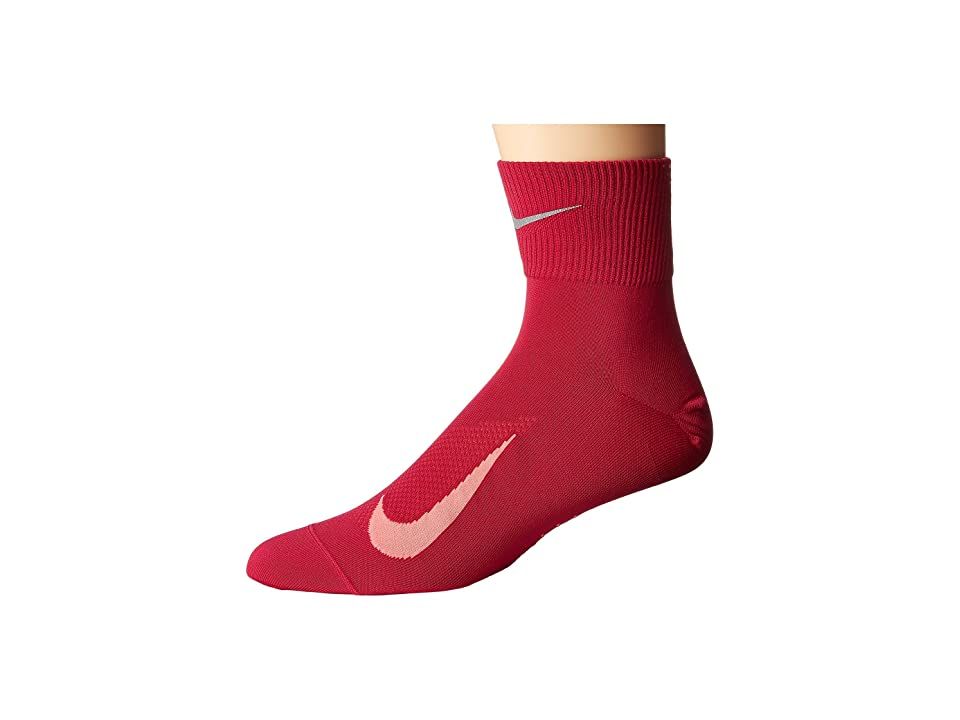 Nike Elite Run Lightweight 2.0 Quarter (Sport Fuchsia/Racer Pink/Reflect Silver) Quarter Length Socks Shoes