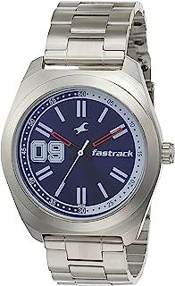 ساعة فارسيتي انالوج من فاست تراك بمينا ازرق للرجال