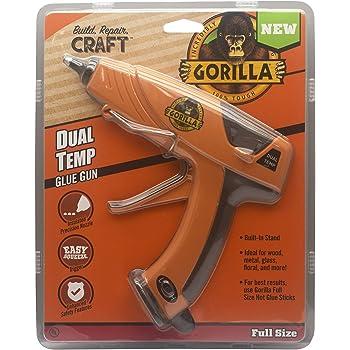 Gorilla 100426 Full-Size Hot Glue Gun, Orange