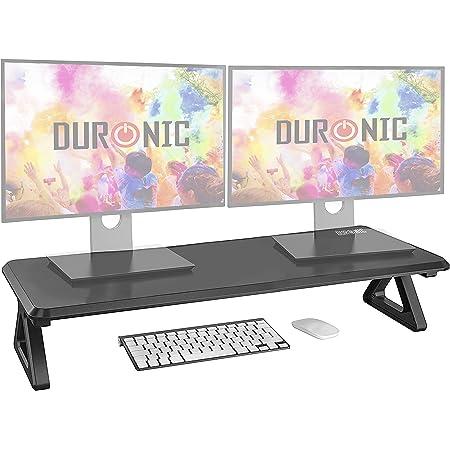 Duronic DM06-2 Réhausseur d'écran/Support pour écran d'Ordinateur/Ordinateur Portable/écran TV - Surface de 81 x 30 cm – Hauteur de 15 cm