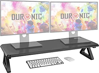 Duronic Monitor Stand Riser DM06-2   Laptop and Screen Stand for Desktop   Black MDF   Support for a TV Screen or PC Compu...