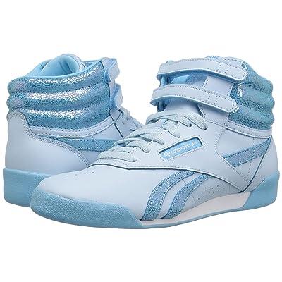 Reebok Kids Freestyle Hi (Little Kid) (Dreamy Blue/Digital Blue) Girl