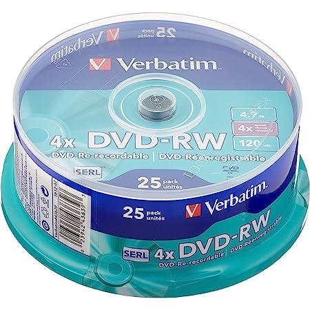 Verbatim Dvd Rw 4x Matt Silver 4 7gb I 25er Pack Computer Zubehör