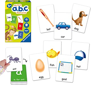 Ravensburger My First ABC Flash Card Game for Kids Age 3 Years Up - Ideal for Early Learning, Object Recognition, Alphabe...