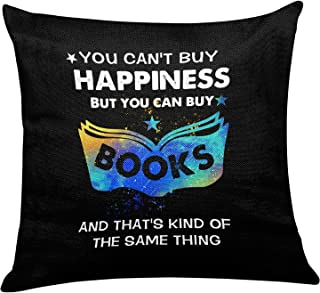 yuzi-n You Can't Buy Happiness But You Can Buy Books Pillow Covers for Home Book Room Reading Room Sofa Couch Decor - Book...