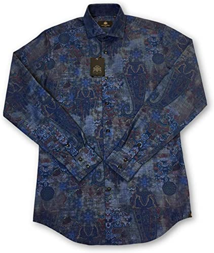 Circle of GentleHommes Kallistos Shirt in bleu Abstract - 15.5