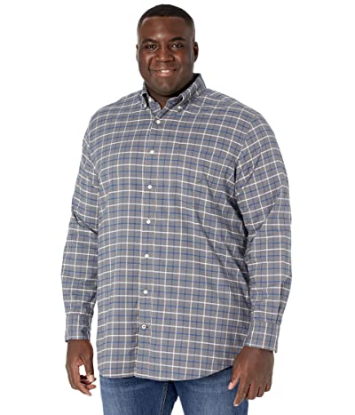 Nautica Big & Tall Big Tall Long Sleeve Woven (Pewter Grey) Men
