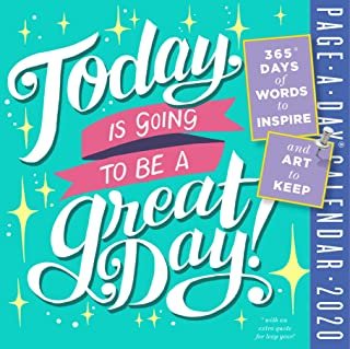 Today is Going to Be a Great Day! Color Page-A-Day Calendar 2020 [6