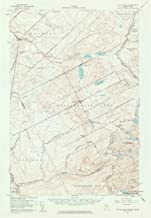 YellowMaps Saint Zacharie ME topo map, 1:62500 Scale, 15 X 15 Minute, Historical, 1957, Updated 1961, 20.7 x 14.3 in