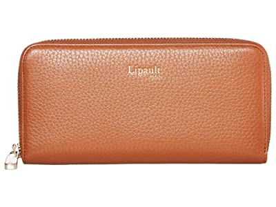 Lipault Paris Invitation Zip Around Wallet (Caramel) Bags