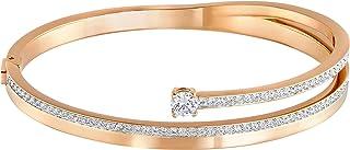 Swarovski Women's White Rose-gold tone plated Fresh Bangle 5217727