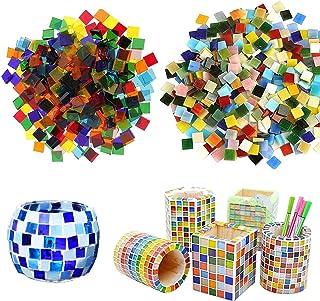 Allazone Mosaique Loisir Creatif Mosaïque de Multicolore Morceaux de Verre de Mosaïque pour La Décoration à La Maison, Cré...
