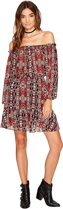 BB Dakota - Sienna Printed Off the Shoulder Dress