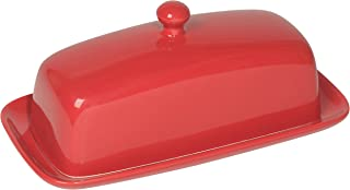 Now Designs Butter Dish, Red