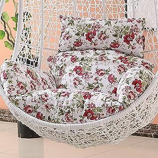 HYRGLIZI Almohadillas para Silla Relax Hanging, Garden Rattan Swing Chair Egg Chair Cojín/Cover-Red (Color: C) (SIN Silla)