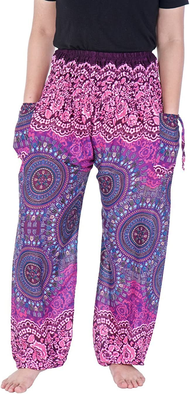 Lannaclothesdesign Women's Smocked Waist Yoga Max 49% Super Special SALE held OFF Loose Fit Printed
