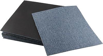 TASORE タイルカーペット 50×50cm 18枚 ズレない 固定用テープ付き タイルマット カットできる 洗える ブルー