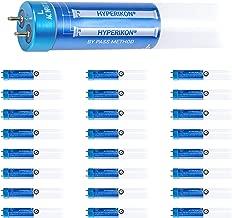 Hyperikon T8 4 Foot LED Bulb, 40 Watt Replacement (18W) Glass, T10 T12 Light Tube, 4000K Daylight, Single End Ballast Bypass, Frosted, UL, DLC, 24 Pack