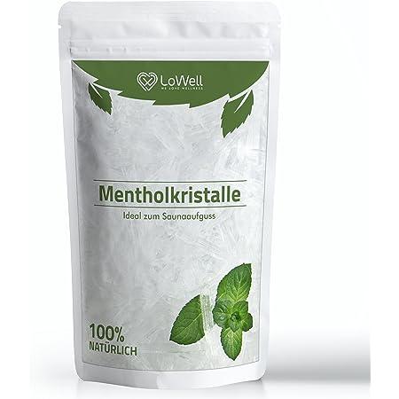 LoWell® 100g de cristaux de menthol 100% menthe pure-Parfaits pour la diffusion en sauna, sachet refermable - Menthol
