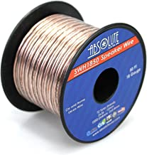 Absolute USA SWH1850 18 Gauge Car Home Audio Speaker Wire Cable Spool 50'
