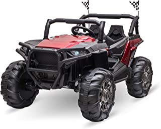 Aosom 12V 2-Seater Kids Electric Ride-On Car Off-Road UTV Truck Toy with Parental Remote Control & 4 Motors, Camo Red