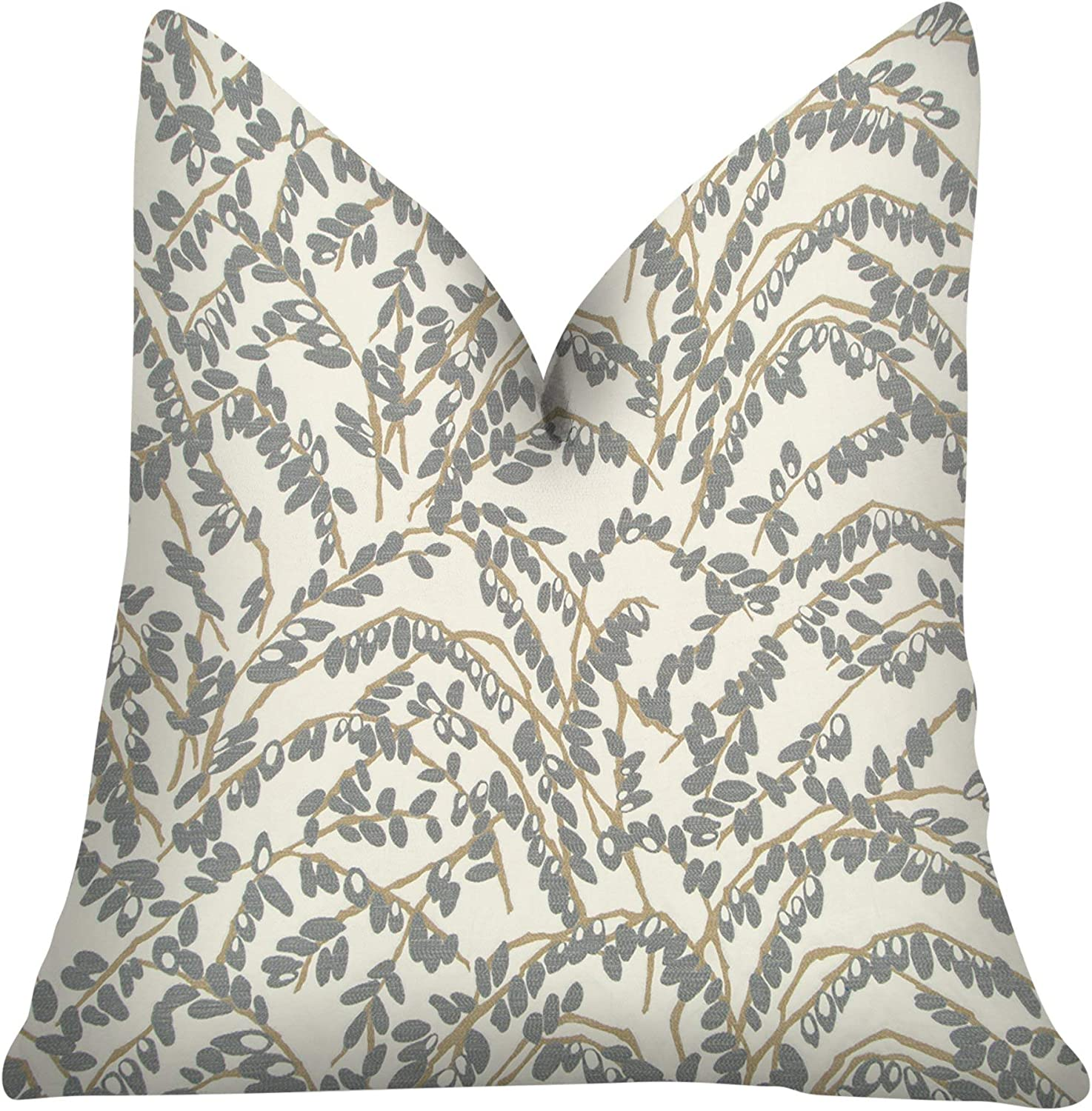 Jacksonville Mall Thomas Collection Gray Max 78% OFF Ivory Taupe Throw T Pillow Branch Olive -