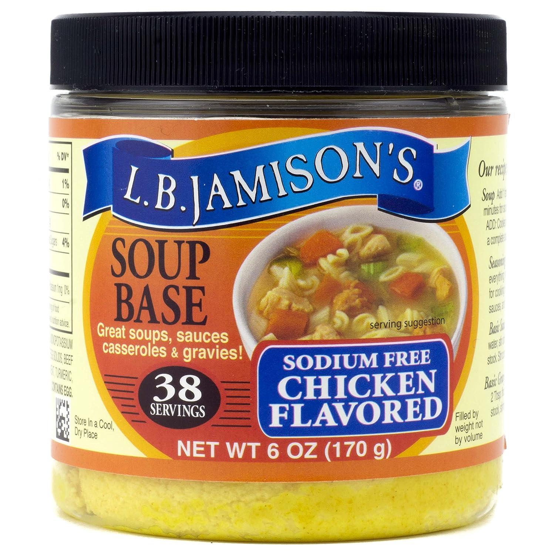 L.B. Jamison's Sodium Free Chicken Base Ranking [Alternative dealer] TOP4 6oz Soup