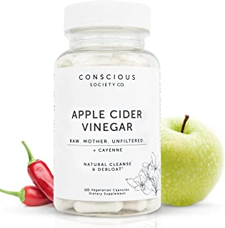 120 Organic Apple Cider Vinegar Capsules with Mother + Cayenne | Apple Cider Vinegar Pills for Metabolism, Gut Health, Digestion, Bloating Relief and Appetite Suppressant