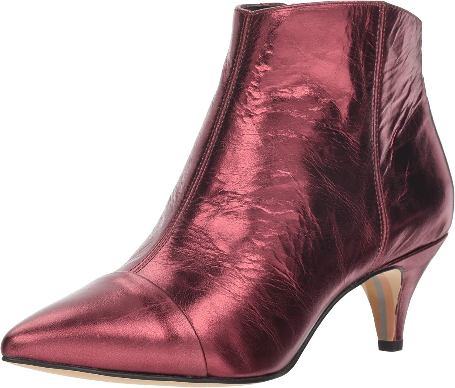 Sam Edelman Woherren Kinzey 2 Fashion Stiefel, Dark Cherry Metallic Leather, 7 M US
