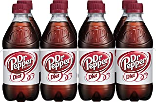 Diet Dr Pepper Soda, 12 Fluid Ounce Bottle, 8 Count