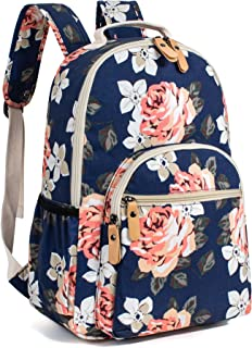 Leaper Floral School Backpack for Girls Travel Bag Bookbags for Women Satchel