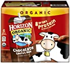 Horizon Organic, Low Fat Milk, Chocolate, 8-Ounce Aseptic Cartons, 6 pack, 8g Protein and 30% DV Calcium, Juice Box Alternative