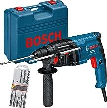 Taladro percutor de Bosch GBH 2-20 D SDS-Plus, 650 vatios, 1, 7J en artesanos maletín + SDS Plus brocas 5 tlg