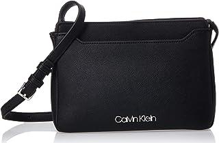 حقيبة رسمية طويلة تمر بالجسم للنساء من كالفن كلاين، لون اسود، 24 سم، K60K606027